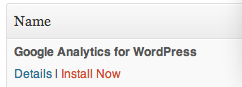 Google Analytics for WordPress 3